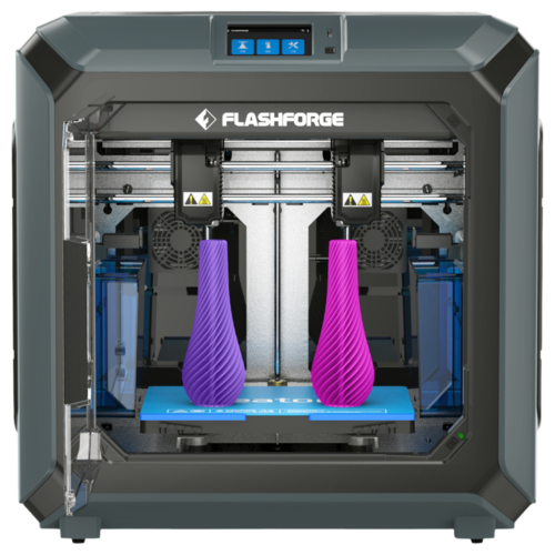 Flashforge Creator 3 IDEX mode Dual for twice the 3D prints in half the time